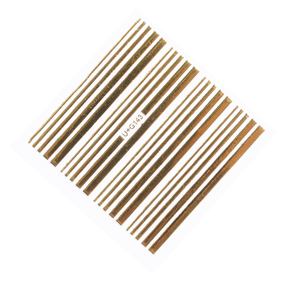 Gold Stripes Nail Stickers - NEW!