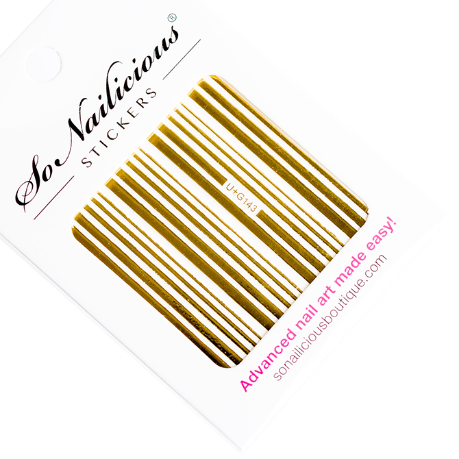 gold stripes stickers