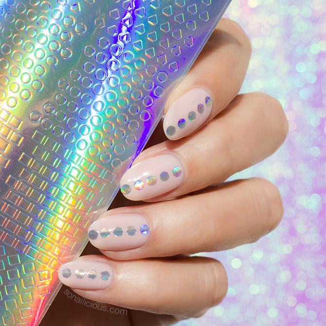 2,in,1 Holographic Nail Stickers , Limited Edition