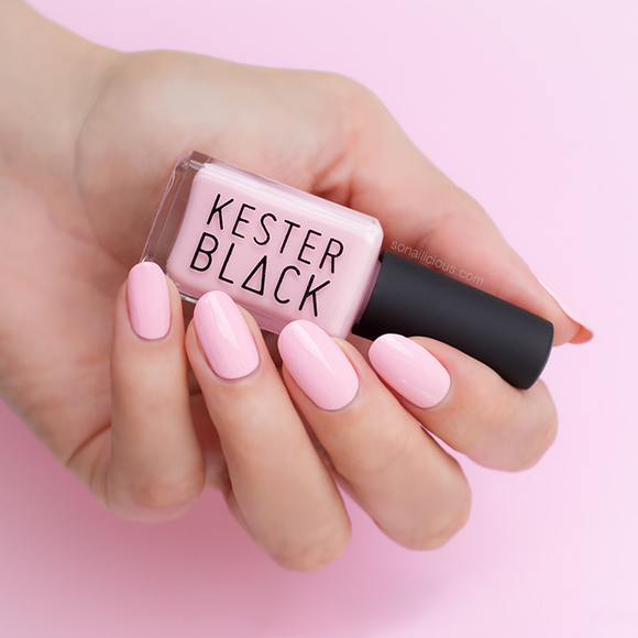 KESTER BLACK Coral Blush, light pink nail polish