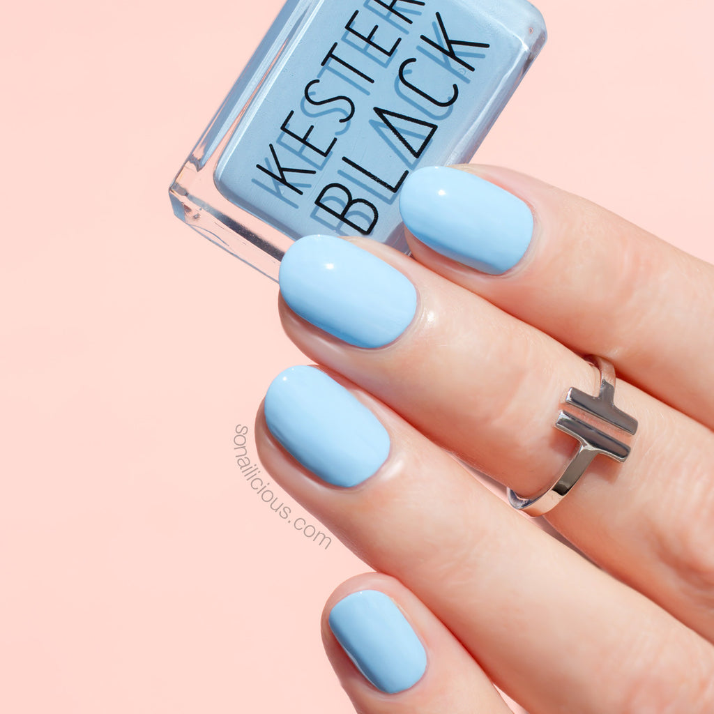 KESTER BLACK Cumulus light blue nail polish