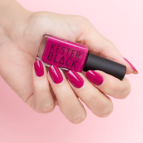 KESTER BLACK Raspberry, raspberry red nail polish