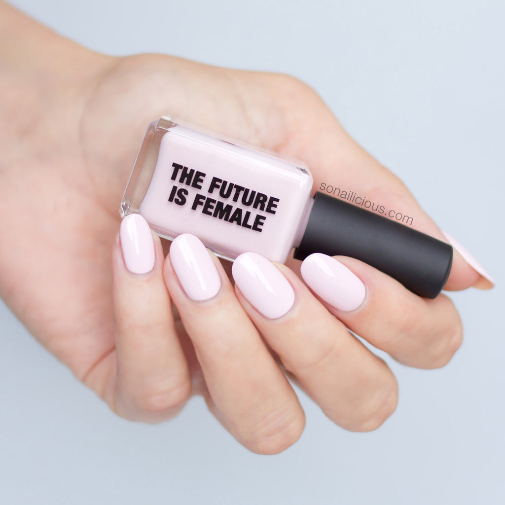 KESTER BLACK The Future Is Female light pink nail polish