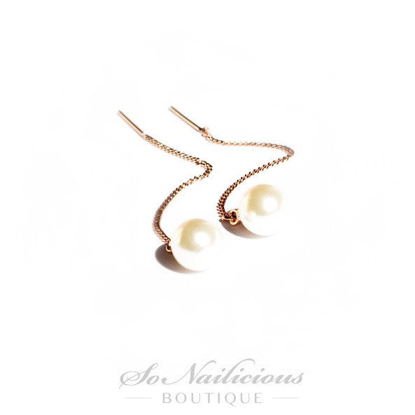 Mother of Pearls Long Earrings - ONLY 1 LEFT!
