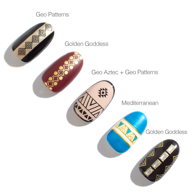 Geo Pattern Nail Stickers - SoNailicious Boutique
