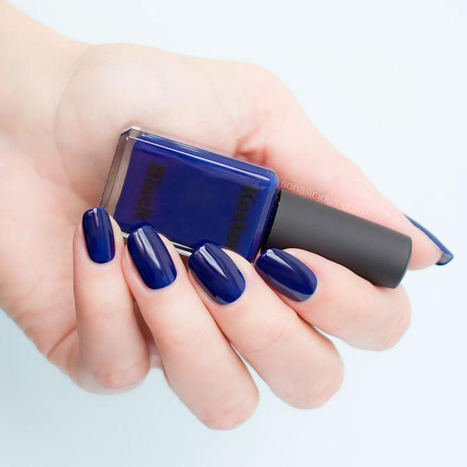 navy blue nail polish kester black bleu