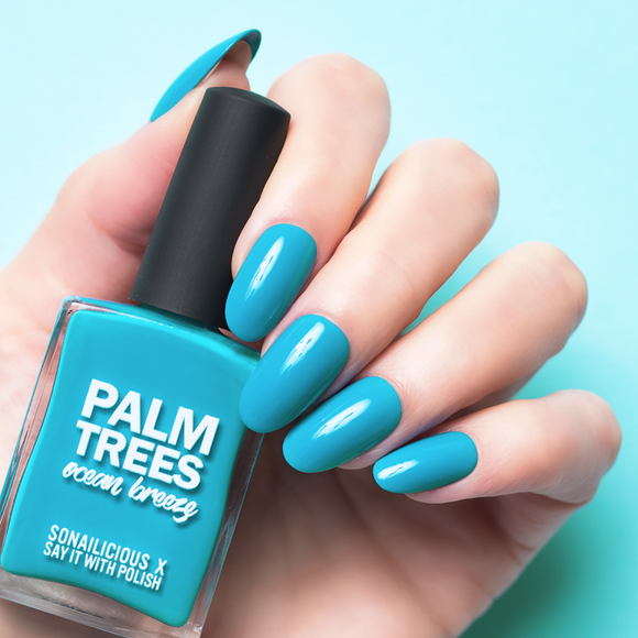 Say it with polish teal nail polish