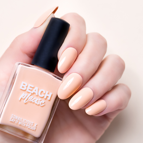 Say it with polish peach nail polish