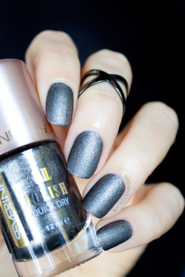Severina Gunmetal Black Matte