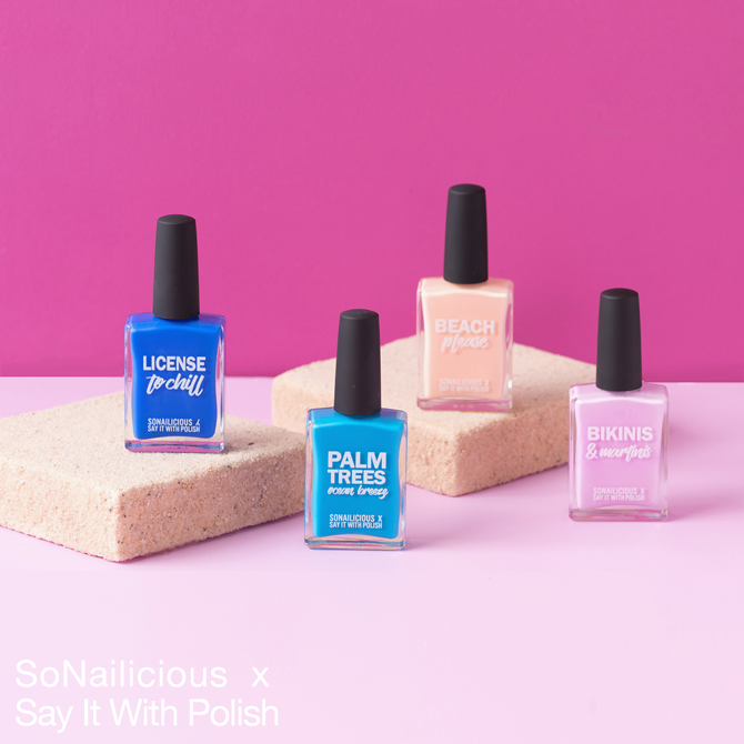 SoNailicious x Say it with polish nail polish colours
