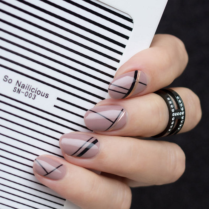 Stripe nails with SoNailicious Stripe stickers