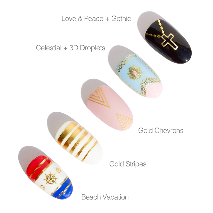 summer nail art with sonailicious nail stickers