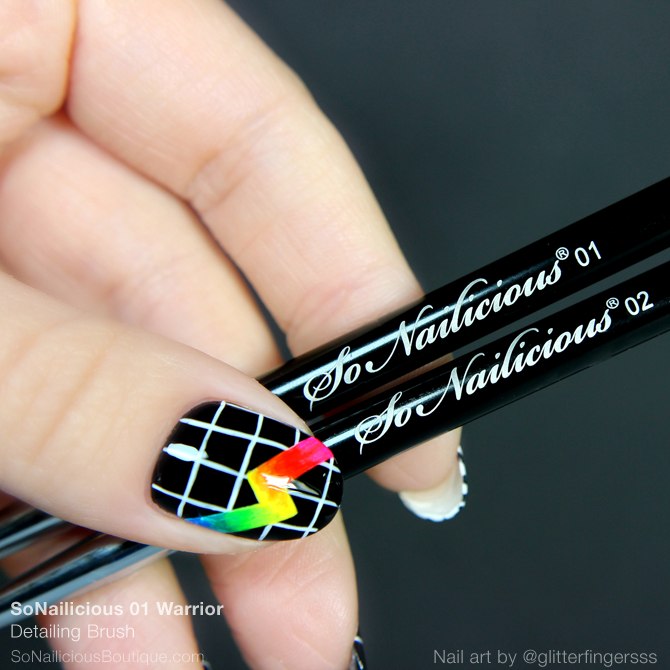 The SoNailicious Brush #1 WARRIOR - Detailing Nail Art Brush
