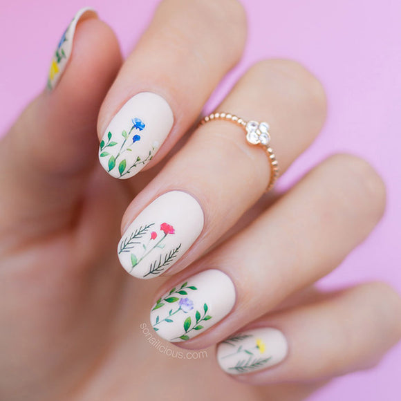 All-In-One FLORAL RHAPSODY Nail Sticker Set - SAVE $40!