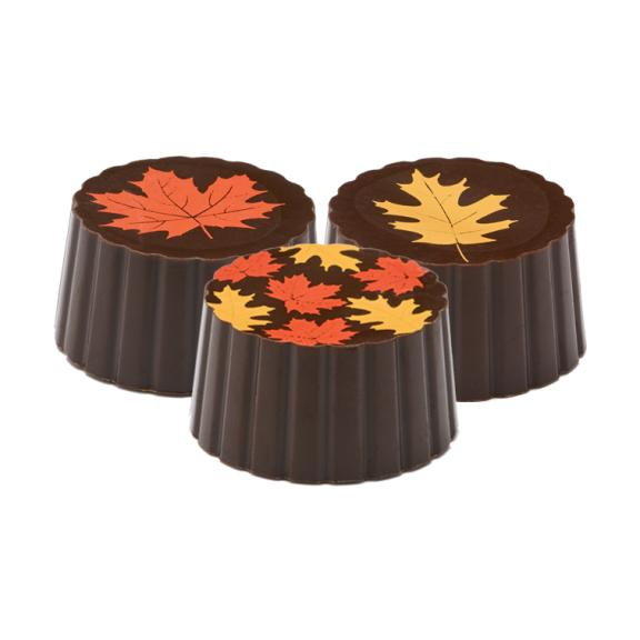 Dark Chocolate Maple Leaf Truffle - Jackie's Chocolate (1892976558115)