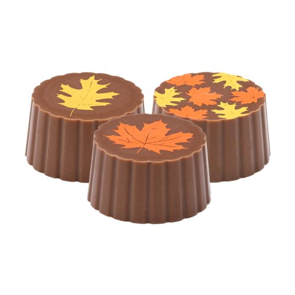 Milk Chocolate Maple Leaf Truffle - Jackie's Chocolate