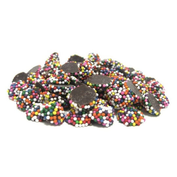 Mini Rainbow Dark Chocolate Nonpareils (1 lb) - Jackie's Chocolate