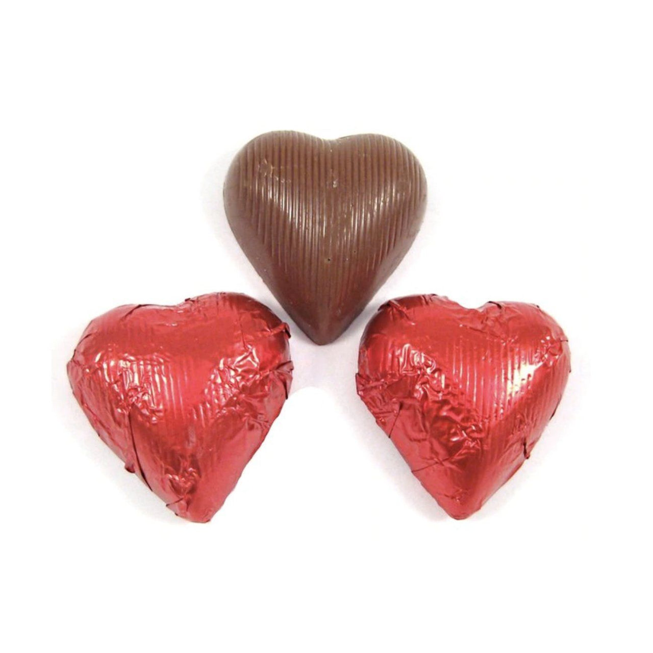 Red Chocolate Foil Hearts (1 LB) - Jackie's Chocolate (4400661037171)