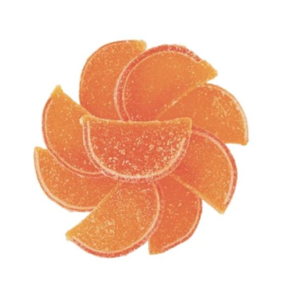 Sour Peach Candy Slices - Jackie's Chocolate (1902932033571)
