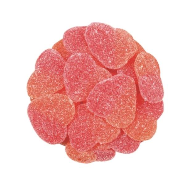 Sour Peach Hearts (1 LB) - Jackie's Chocolate (4396914442355)