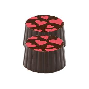 Heart Dark Chocolate Raspberry Truffle - Jackie's Chocolate (1519578316835)