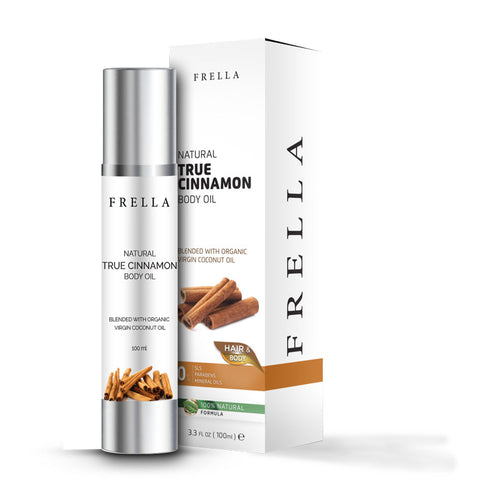 Frella Natural True Cinnamon & Virgin Coconut Hair & Body Oil 100Ml