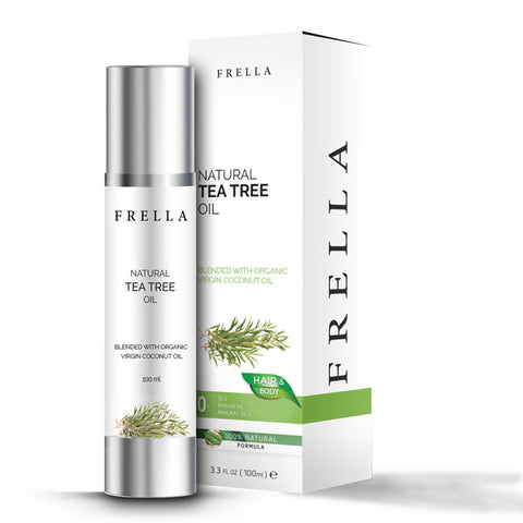 Frella Natural Tea Tree & Virgin Coconut Hair & Body Oil 100Ml