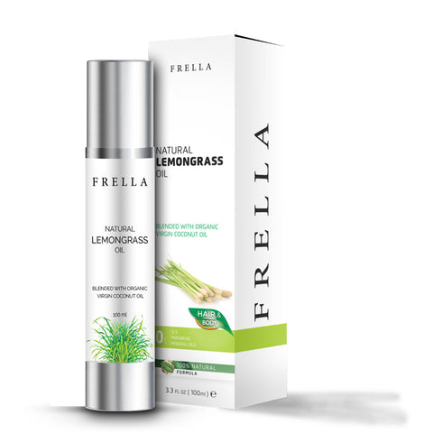 Frella Natural Lemongrass & Virgin Coconut Hair & Body Oil 100Ml