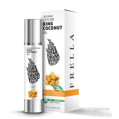 Frella Organic King Coconut Hair & Body Oil 100Ml