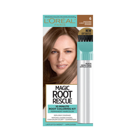 L'Oreal, Magic Root Rescue, 10 Minute Root Coloring Kit 6 Light Brown
