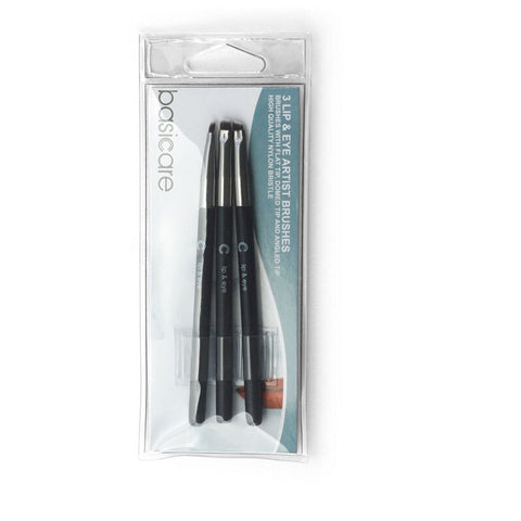 Basicare 3 Lip & Eye Artist Brushes