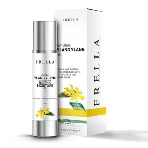 Frella Natural Ylang Ylang & Virgin Coconut Hair & Body Oil 100Ml