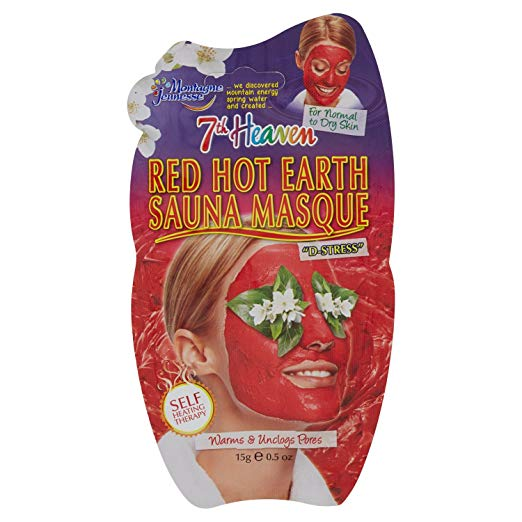 7th Heaven Red Hot Earth Sauna Masque 15ml For Warms & Unclogs Pores in sri lanka
