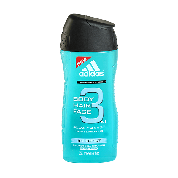 Adidas Ice Effect 3 In 1 Shower Gel, Shampoo & Face Wash 250ml in Sri Lanka