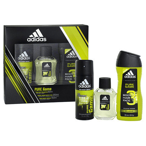 Adidas Pure Game 3 Piece Gift Set in Sri Lanka
