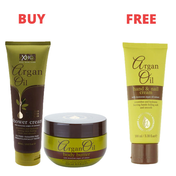 Argan Oil Shower Cream, body butter and hand cream (Limited Offer)