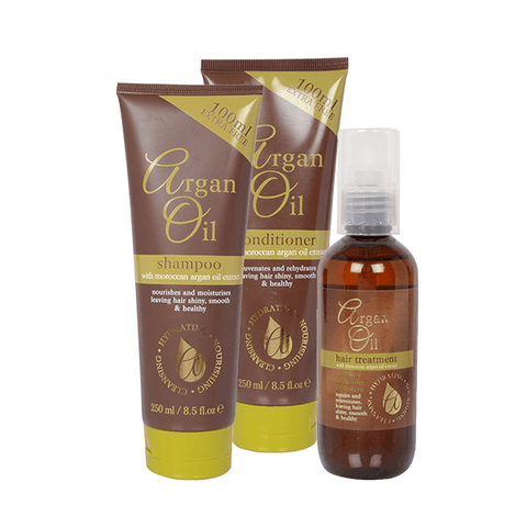 Argan Shampoo, Conditioner & Hair Oil Gift Set in Sri Lanka
