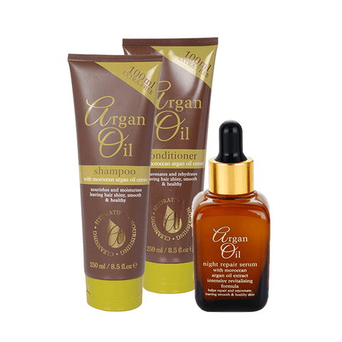 Argan Oil Shampoo, Conditioner & Night Repair Serum Gift Set in Sri Lanka