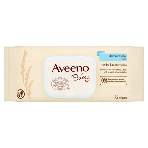 Aveeno Baby Daily Care Baby Wipes - 72 Wipes
