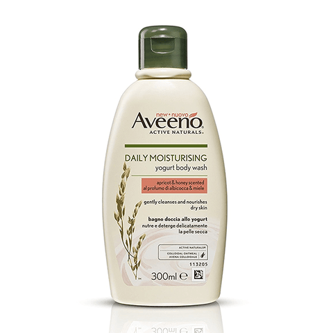 Aveeno Daily Moisturising Yogurt Body Wash 300ml - Apricot & Honey Scented in Sri Lanka