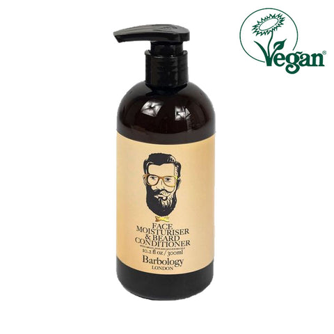 Barbology London Face Moisturiser & Beard Conditioner 300ml