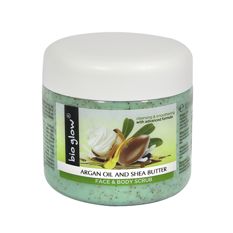 Bio Glow Argan Oil & Shea Butter Face & Body Scrub 300ml in Sri Lanka