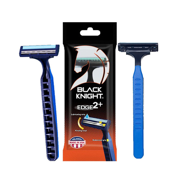 Black Knight Edge 2 Plus Twin Blade Rubber Grip Razor (Buy 5 Get 1 Free)