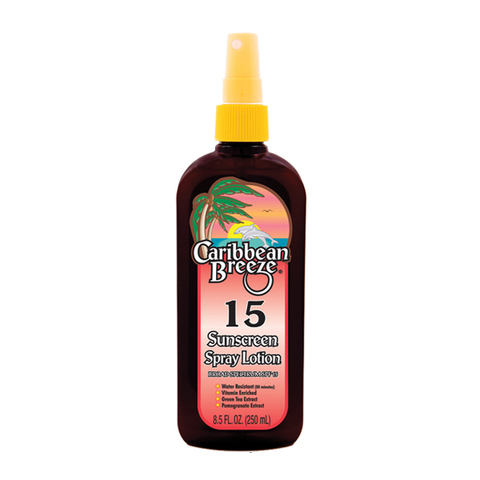 Caribbean Breeze SPF 15 Sunscreen Spray Lotion 250ml in sri lanka