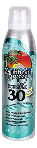 Caribbean Breeze SPF 30 Continuous Tropical Mist Sunscreen 177ml