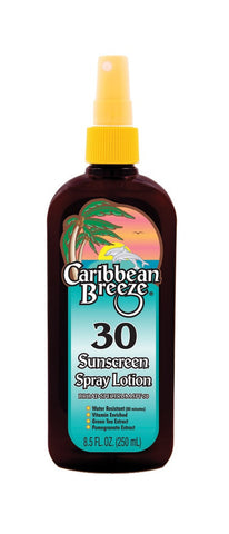 Caribbean Breeze SPF 30 Sunscreen Spray Lotion 250ml