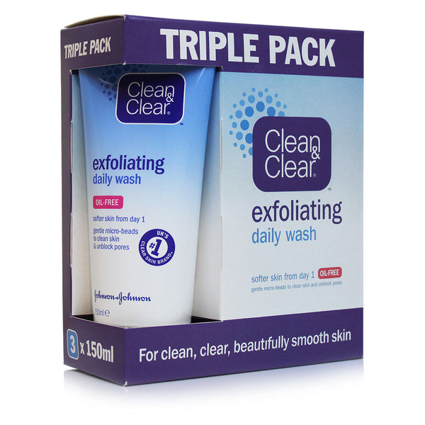 Clean & Clear Exfoliating Daily Wash Triple Pack in sri lanka