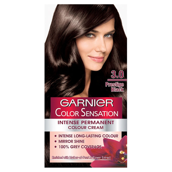 Garnier color sensation 3.0 prestige black permanent Hair Dye