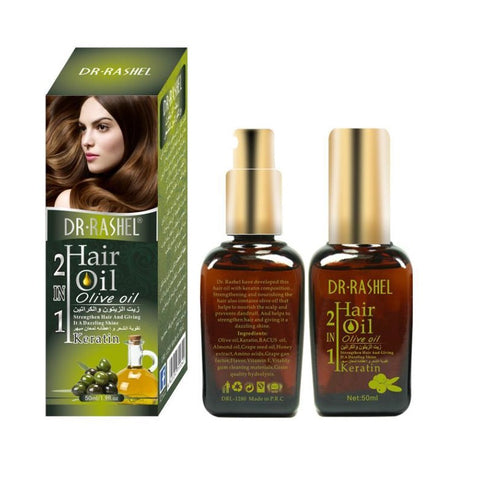 Dr. Rashel Hair Oil 2 In 1 Olive Oil & Kertain