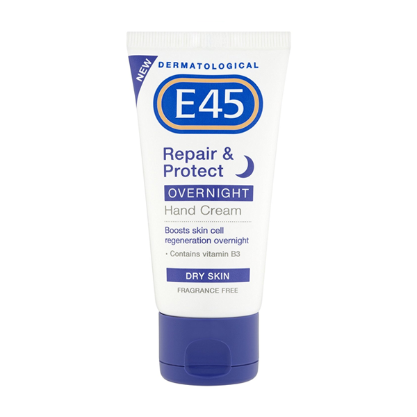E45 dermatological repair & protect overnight hand cream 50ml in sri lanka